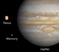 3 planetas a escala