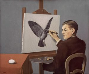 rene-magritte-clairvoyance-1936